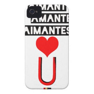 Magnet with loving lovers - Word games iPhone 4 Case-Mate Cases