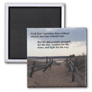 magnet with path to lake - promise of God