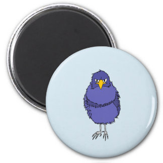 Magnet with picture of not so happy bird