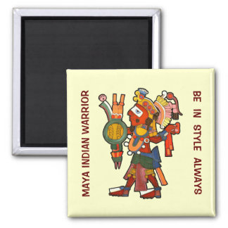 Magnet with style Maya indian warrior