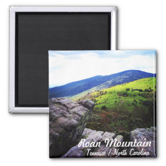 Magnet with text - Roan Mountain
