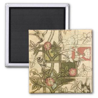 Magnet with Trellis Design by William Morris
