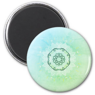 Magnet with vintage hand-drawn Manala  /  green