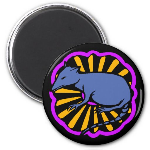 Magnet ~ Year of the Rat Rats Chinese Zodiac Sign