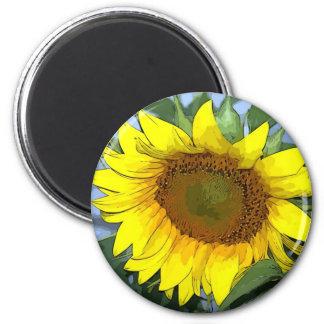 Magnet Yellow Sunflower