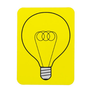 Magnet yellow with bulb