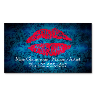 Magnetic Business cards for Makeup artists