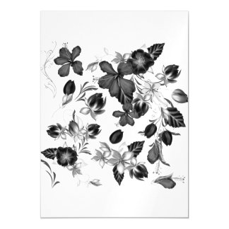 Magnetic card with Folk flowers
