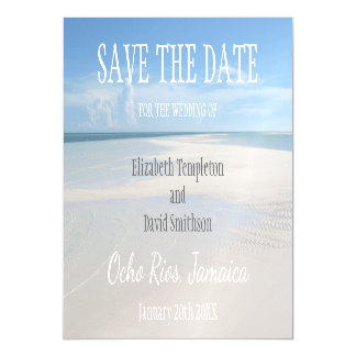 Magnetic Destination Wedding Beach Save the Date Magnetic Card