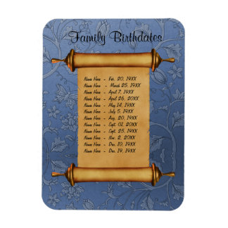 Magnetic Family Birthday Reminder - Customize Magnet