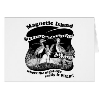 Magnetic Island curlews with full moon dancers Card
