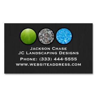 Magnetic Landscape Grass Rocks Water Business Card Magnetic Business Cards
