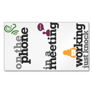 Magnetic Office Door Signs/Labels Magnetic Business Cards