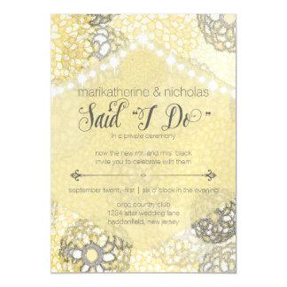 Magnetic Post Wedding Lights & Flowers Invitation