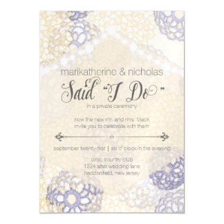Magnetic Post Wedding Lights & Flowers Invitation Magnetic Invitations