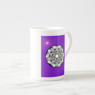 'Magnetic Purple Sunshine' Bone China Mug