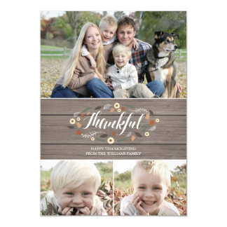 Magnetic Rustic Thanksgiving Photo Card Magnetic Invitations