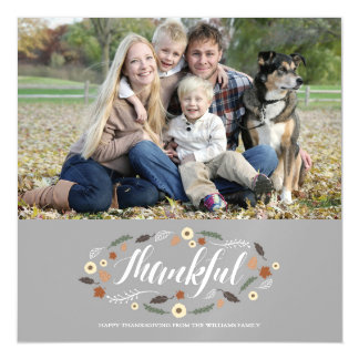 Magnetic Thankful Thanksgiving Photo Card Magnetic Invitations
