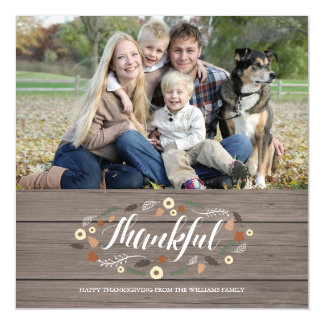 Magnetic Thanksgiving Photo Card Magnetic Invitations