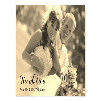 Magnetic Wedding Photo Thank You Magnetic Invitations