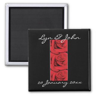 Magnets - elegant black and red roses