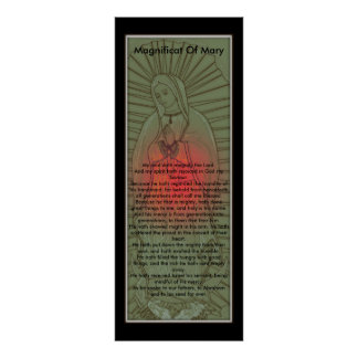Magnificat of The Blessed Virgin Mary Poster