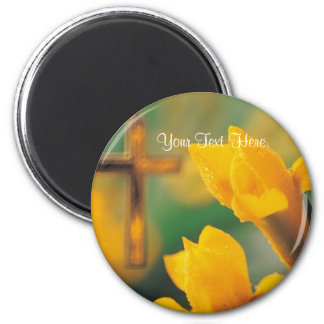 Magnificent Blessed & Wonderful Easter Wishes! 6 Cm Round Magnet
