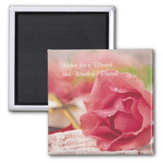Magnificent Design Matches Easter Wishes Card Square Magnet