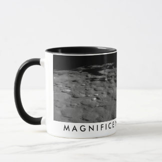 Magnificent desolation moon mug