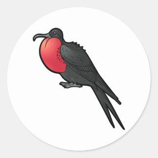Magnificent Frigatebird Round Sticker