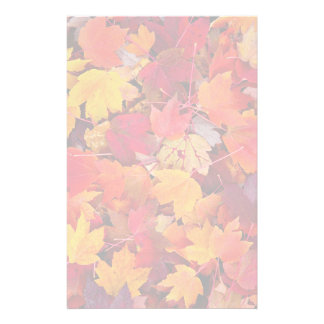 Magnificent Maple Leaves Personalised Stationery