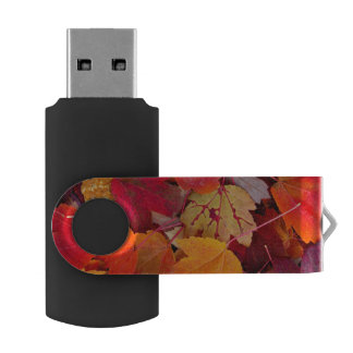 Magnificent Maple Leaves Swivel USB 2.0 Flash Drive