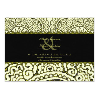 Magnificent Mehndi Mandalas (Gold Effect) Wedding Card