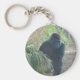 Magnificent Mountain Gorilla Basic Round Button Key Ring