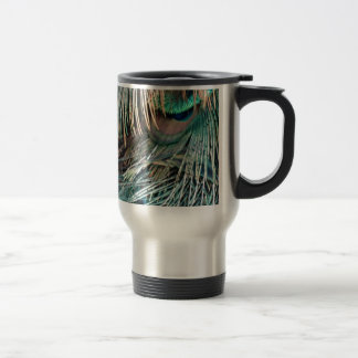 Magnificent Peacock  Feather Travel Mug