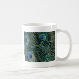 Magnificent Peacock Feathers Coffee Mug