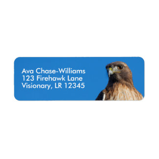 Magnificent Red-Tailed Hawk in the Sun Return Address Label