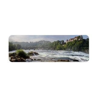 Magnificent Rhinefalls, Switzerland Return Address Label