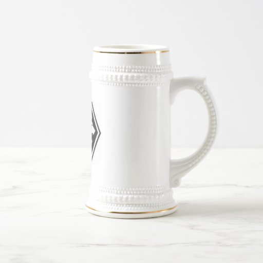 MAGNIFICENT RUFFIANS WHITE LOGO COFFEE MUG