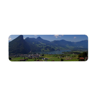 Magnificent view on the region of Lucerne Return Address Label
