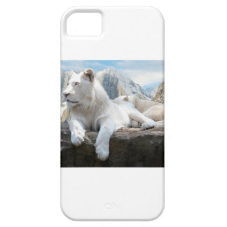Magnificent White Tiger Mountain Backdrop Barely There iPhone 5 Case