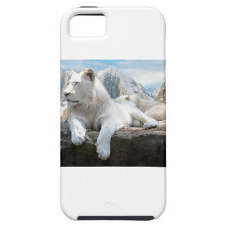 Magnificent White Tiger Mountain Backdrop Case For The iPhone 5