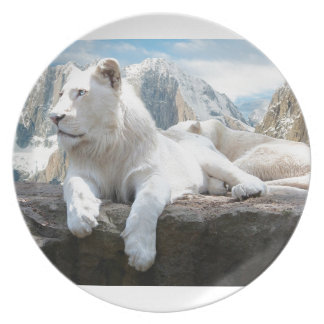 Magnificent White Tiger Mountain Backdrop Plate
