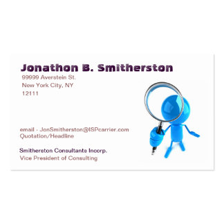 Magnifying Glass Business Cards