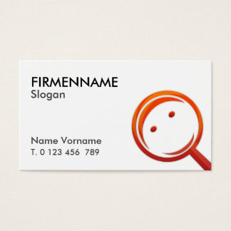 magnifying glass clean business card