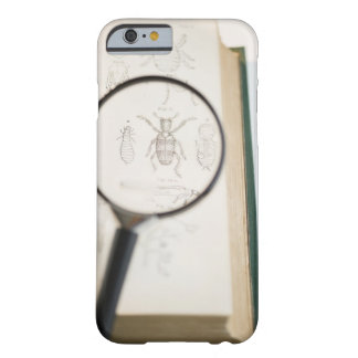 Magnifying glass over book showing insects barely there iPhone 6 case