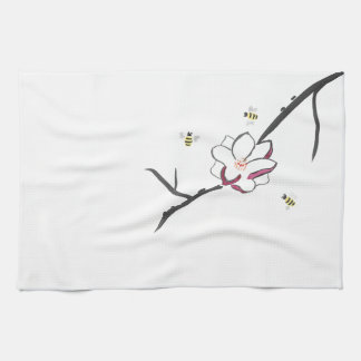 Magnolia and Honey Bees Kitchen Towels