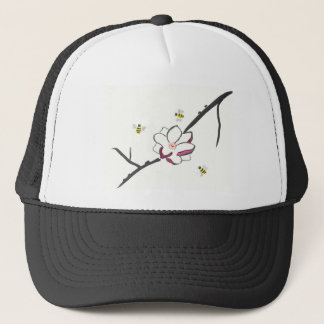 Magnolia and Honey Bees Trucker Hat
