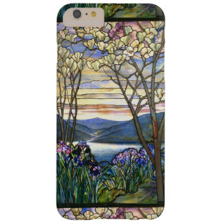 Magnolia and Iris Scenic Stained Glass Window Barely There iPhone 6 Plus Case