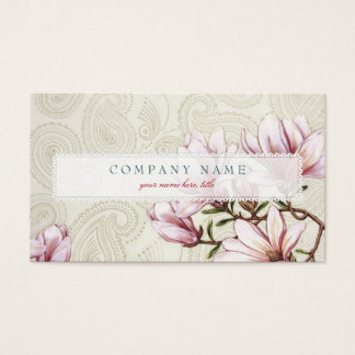 Magnolia and Paisley Business Card
